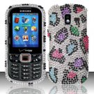 Hard Plastic Bling Design Case for Samsung Intensity 3 III SCH U485 (Verizon) - Rainbow Leopard