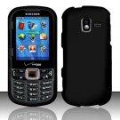 Hard Plastic Rubberized Snap On Case for Samsung Intensity 3 III SCH U485 (Verizon) - Black