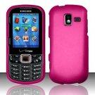 Hard Plastic Rubberized Snap On Case for Samsung Intensity 3 III SCH U485 (Verizon) - Hot Pink