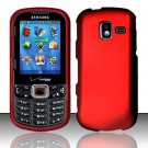 Hard Plastic Rubberized Snap On Case for Samsung Intensity 3 III SCH U485 (Verizon) - Red