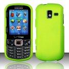 Hard Plastic Rubberized Snap On Case for Samsung Intensity 3 III SCH U485 (Verizon) - Neon Green