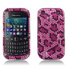 Pink Leopard Hard Plastic Bling Design Case BlackBerry Curve 9310/9320 (Verizon/Boost Mobile)