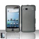 Hard Plastic Rubber Feel Design Case for HTC G2 (T-Mobile) - Carbon Fiber