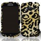 Hard Plastic Rubberized Snap On Case Samsung Galaxy Reverb M950 (Sprint/Virgin) - Golden Cheetah