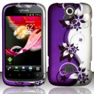 Hard Plastic Rubberized Snap On Case Cover for Huawei myTouch Q U8730 (T-Mobile) – Purple Vines