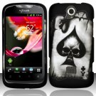 Hard Plastic Rubberized Snap On Case Cover for Huawei myTouch Q U8730 (T-Mobile) – Spade Skull