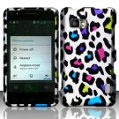 Hard Plastic Rubberized Snap On Case Cover for LG Mach LS860 (Sprint/Boost) – Rainbow Leopard