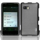Hard Plastic Rubberized Snap On Case Cover for LG Mach LS860 (Sprint/Boost Mobile) – Carbon Fiber