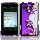 Hard Plastic Rubberized Snap On Case Cover for LG Mach LS860 (Sprint/Boost Mobile) – Purple Vines