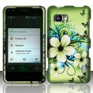 Hard Plastic Rubberized Snap On Case Cover for LG Mach LS860 (Sprint/Boost) – Flowers & Butterfly