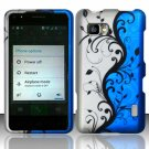 Hard Plastic Rubberized Snap On Case Cover for LG  Mach LS860 (Sprint/Boost Mobile) – Blue Vines