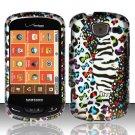 Hard Plastic Snap On Rubberized Design Case for Samsung Brightside U380 - White Safari