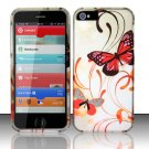 New Hard Plastic Rubberized Snap On Case Cover for Apple iPhone 5 – Two Butterfly