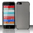 New Hard Plastic Rubberized Snap On Case Cover for Apple iPhone 5 – Carbon Fiber