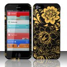 New Hard Plastic Rubberized Snap On Case Cover for Apple iPhone 5 – Gold Flowers