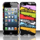 New Hard Plastic Rubberized Snap On Case Cover for Apple iPhone 5 – Abstract Art