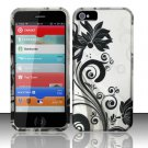 New Hard Plastic Rubberized Snap On Case Cover for Apple iPhone 5 – Silver & Black Vines