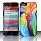 New Hard Plastic Rubberized Snap On Case Cover for Apple iPhone 5 – Peacock Feather