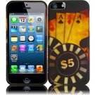New Hard Plastic Rubberized Snap On Case Cover for Apple iPhone 5 – Ace Poker