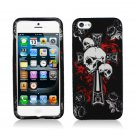 New Hard Plastic Rubberized Snap On Case Cover for Apple iPhone 5 – Skull and Dagger