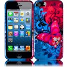 New Hard Plastic Snap On Design Case Cover for Apple iPhone 5 – Butterfly Bliss