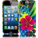 New Hard Plastic Snap On Design Case Cover for Apple iPhone 5 – Eternal Flower