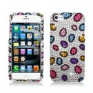 Hard Plastic Bling Rhinestone Snap On Case Cover for Apple iPhone 5 - Rainbow Stones