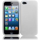 Soft Silicone Rubber Skin Case Cover for Apple 5 - White