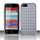 Crystal TPU Gel Check Design Skin Case Cover for Apple 5 - Smoke