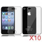 10 Premium Front & Back Clear LCD Screen Protector for Apple iPhone 5 6th Gen Phone