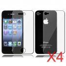 4 Premium Front & Back Clear LCD Screen Protector for Apple iPhone 5 6th Gen Phone