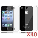 40 Premium Front & Back Clear LCD Screen Protector for Apple iPhone 5 6th Gen Phone