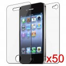 50 Premium Front & Back Clear LCD Screen Protector for Apple iPhone 5 6th Gen Phone