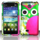 Hard Plastic Rubberized Snap On Case Cover for LG Escape P870 (AT&T) – Starry Green Owl
