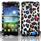 Hard Plastic Rubberized Snap On Case Cover for LG Escape P870 (AT&T) – Rainbow Leopard