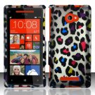 Hard Plastic Snap On Case Cover HTC Windows Phone 8X (Verizon/AT&T/T-Mobile) – Rainbow Leopard