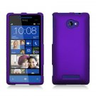 Hard Plastic Snap On Case Cover for HTC Windows Phone 8X (Verizon/AT&T/T-Mobile) – Purple