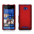 Hard Plastic Snap On Case Cover for HTC Windows Phone 8X (Verizon/AT&T/T-Mobile) – Red