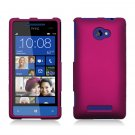 Hard Plastic Snap On Case Cover for HTC Windows Phone 8X (Verizon/AT&T/T-Mobile) – Rose Pink