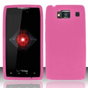 Soft Silicone Rubber Skin Case Cover for Motorola Droid RAZR Maxx HD (Verizon) - Pink