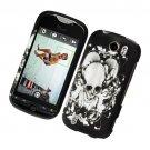 Hard Plastic Rubber Feel Design Case for HTC Mytouch Slide 4G - Skull & Angel