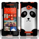 Hard Plastic Snap On Case Cover HTC Windows Phone 8X (Verizon/AT&T/T-Mobile) – Cute Panda Bear