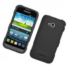 Hard Plastic Rubberized Snap On Case Cover for Samsung Galaxy Victory 4G LTE (Sprint) - Black