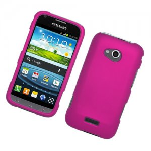 Hard Plastic Rubberized Snap On Case Cover for Samsung Galaxy Victory 4G LTE (Sprint) - Hot Pink