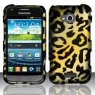 Hard Plastic Rubberized Snap On Case for Samsung Galaxy Victory 4G LTE (Sprint) - Golden Cheetah