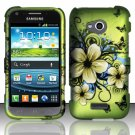 Hard Plastic Rubberized Snap On Case Samsung Galaxy Victory 4G LTE (Sprint) - Flowers & Butterfly
