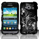 Hard Plastic Rubberized Snap On Case for Samsung Galaxy Victory 4G LTE (Sprint) - Midnight Garden