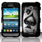 Hard Plastic Rubberized Snap On Case Cover for Samsung Galaxy Victory 4G LTE (Sprint) - Spade Skull