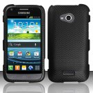 Hard Plastic Rubberized Snap On Case Cover for Samsung Galaxy Victory 4G LTE (Sprint) - Carbon Fiber