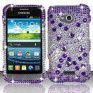 Hard Plastic Bling Case Cover for Samsung Galaxy Victory 4G LTE (Sprint) – Purple and Silver